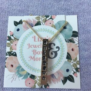 Jewelry - Personalized metal block necklace